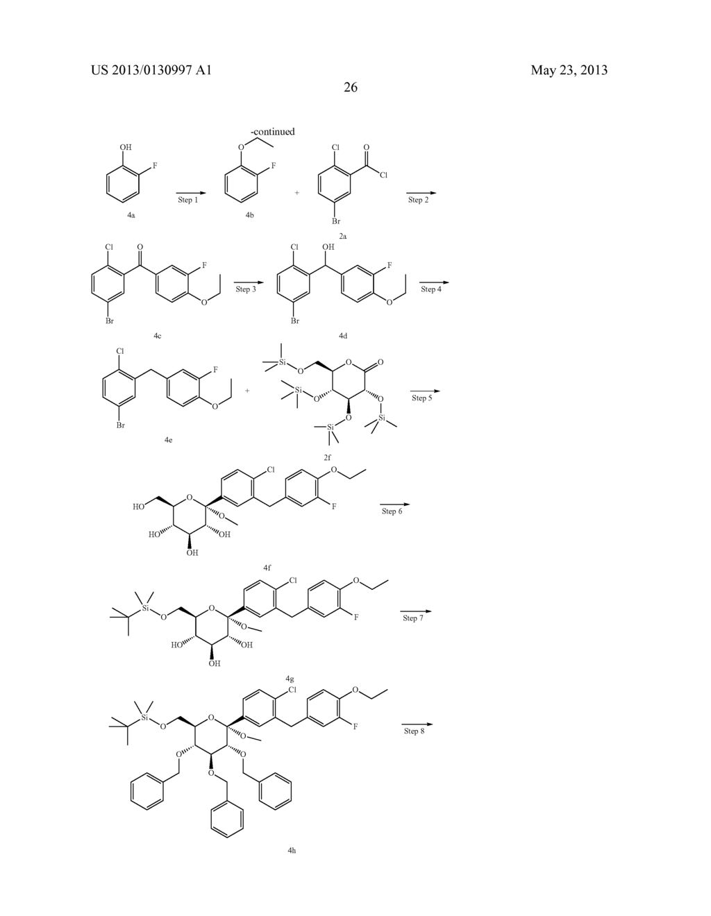 C-ARYL GLUCOSIDE DERIVATIVES, PREPARATION PROCESS AND PHARMACEUTICAL USE     THEREOF - diagram, schematic, and image 27