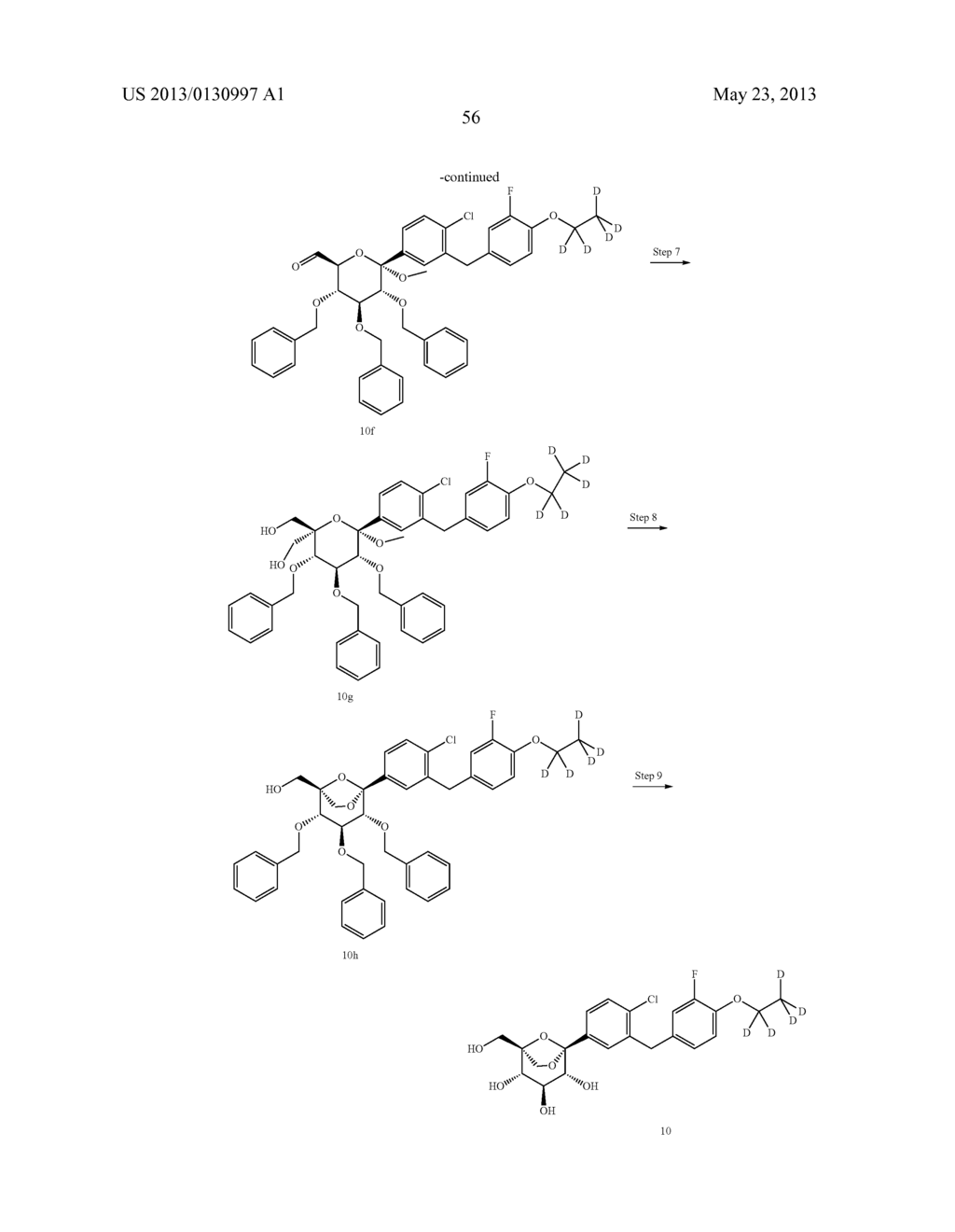 C-ARYL GLUCOSIDE DERIVATIVES, PREPARATION PROCESS AND PHARMACEUTICAL USE     THEREOF - diagram, schematic, and image 57
