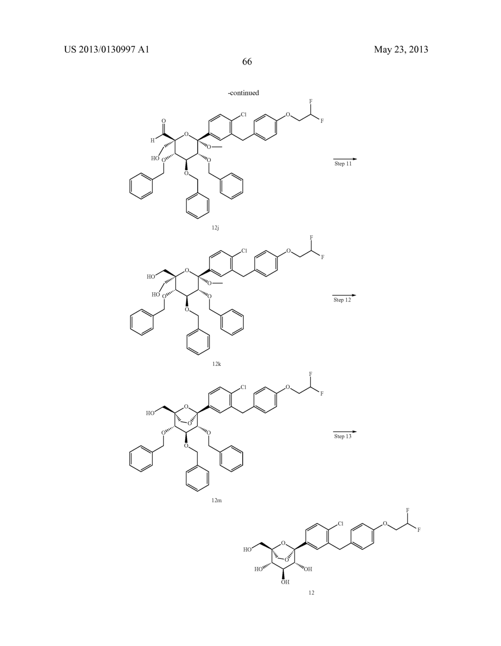 C-ARYL GLUCOSIDE DERIVATIVES, PREPARATION PROCESS AND PHARMACEUTICAL USE     THEREOF - diagram, schematic, and image 67