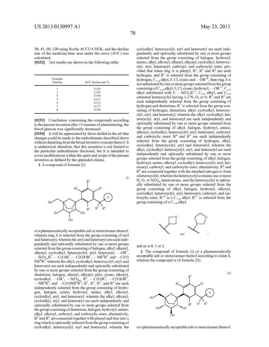 C-ARYL GLUCOSIDE DERIVATIVES, PREPARATION PROCESS AND PHARMACEUTICAL USE     THEREOF - diagram, schematic, and image 71