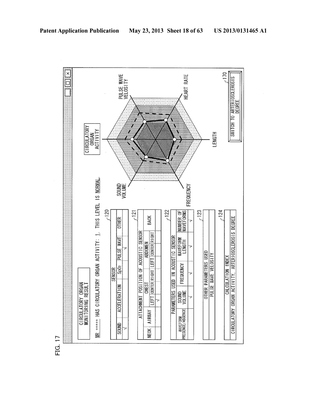 BIOMEASUREMENT DEVICE, BIOMEASUREMENT METHOD, CONTROL PROGRAM FOR A     BIOMEASUREMENT DEVICE, AND RECORDING MEDIUM WITH SAID CONTROL PROGRAM     RECORDED THEREON - diagram, schematic, and image 19