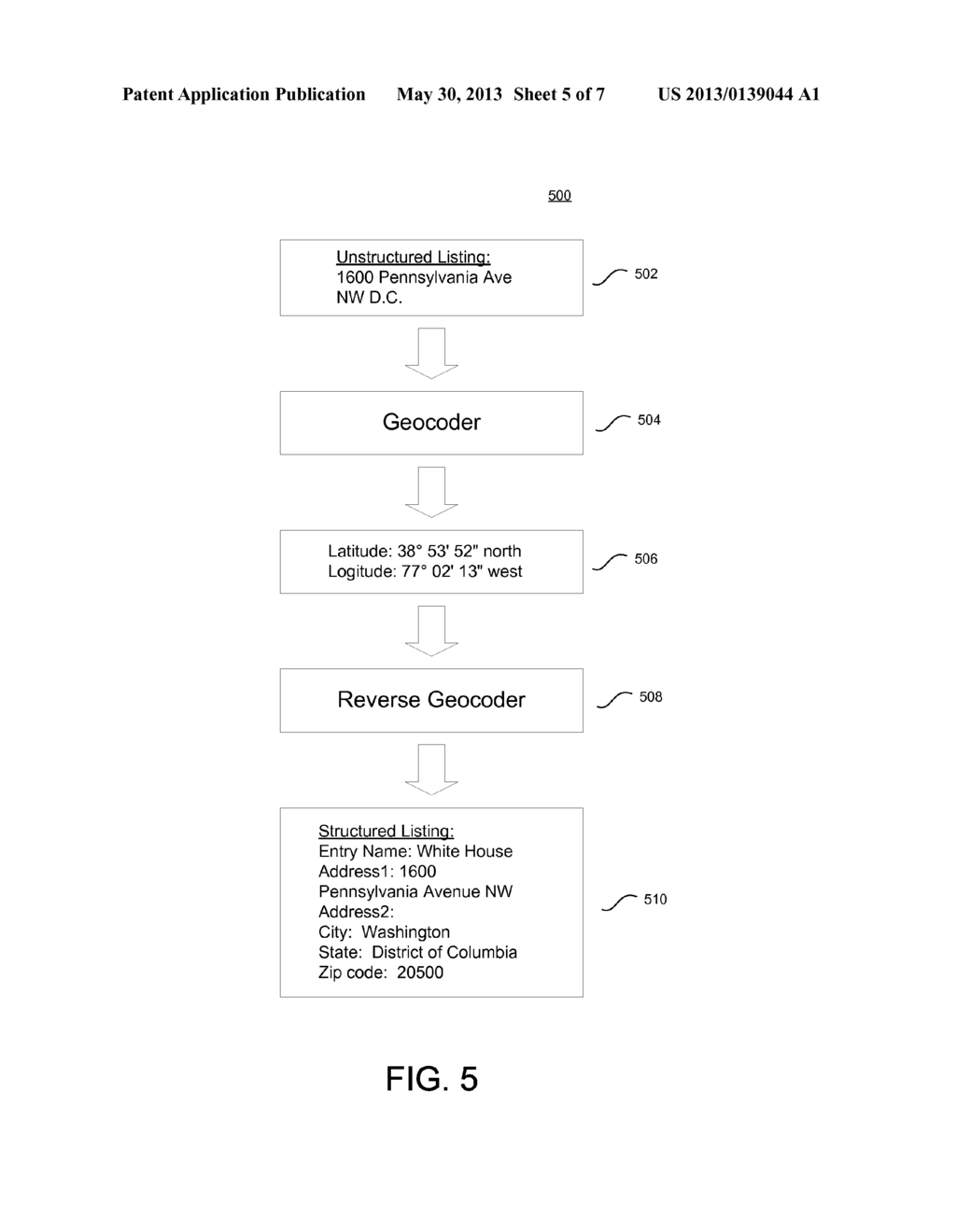 SYSTEM AND METHOD FOR OBTAINING A STRUCTURED ADDRESS BY GEOCODING     UNSTRUCTURED ADDRESS INFORMATION - diagram, schematic, and image 06