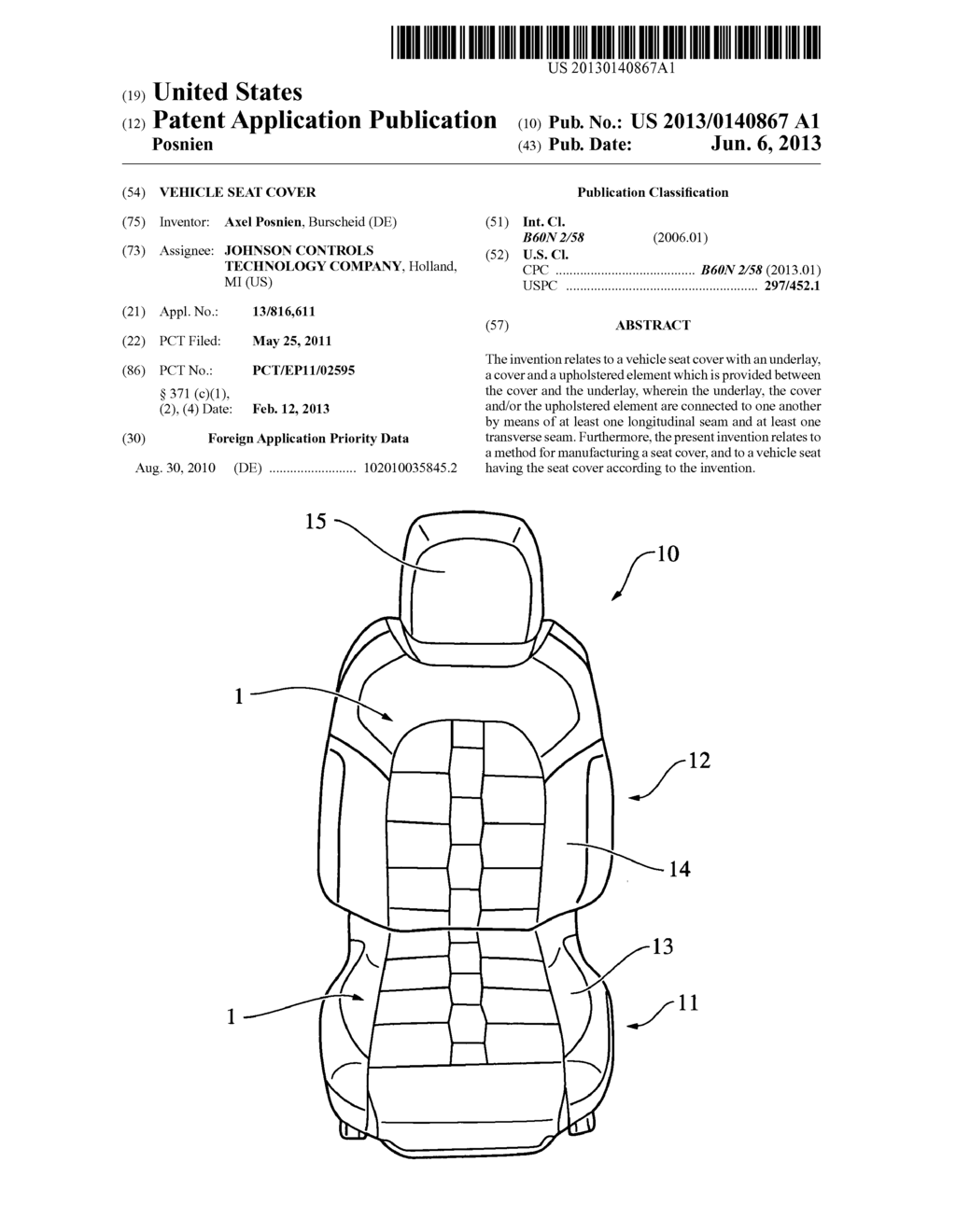 VEHICLE SEAT COVER - diagram, schematic, and image 01