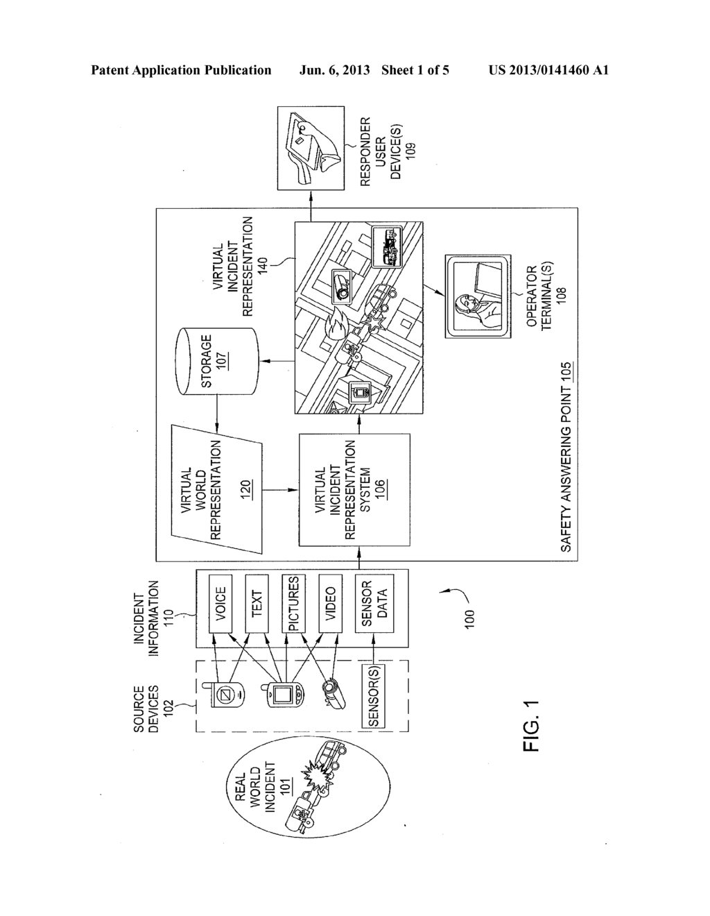 METHOD AND APPARATUS FOR VIRTUAL INCIDENT REPRESENTATION - diagram, schematic, and image 02