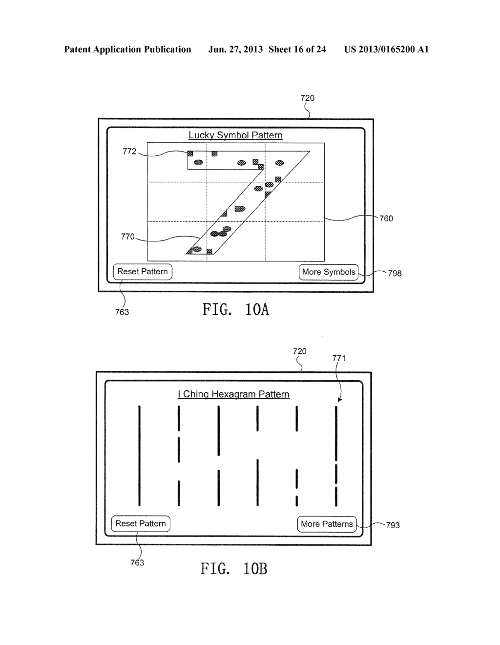 GAMING DEVICE WITH PATTERN DISPLAY - diagram, schematic, and image 17