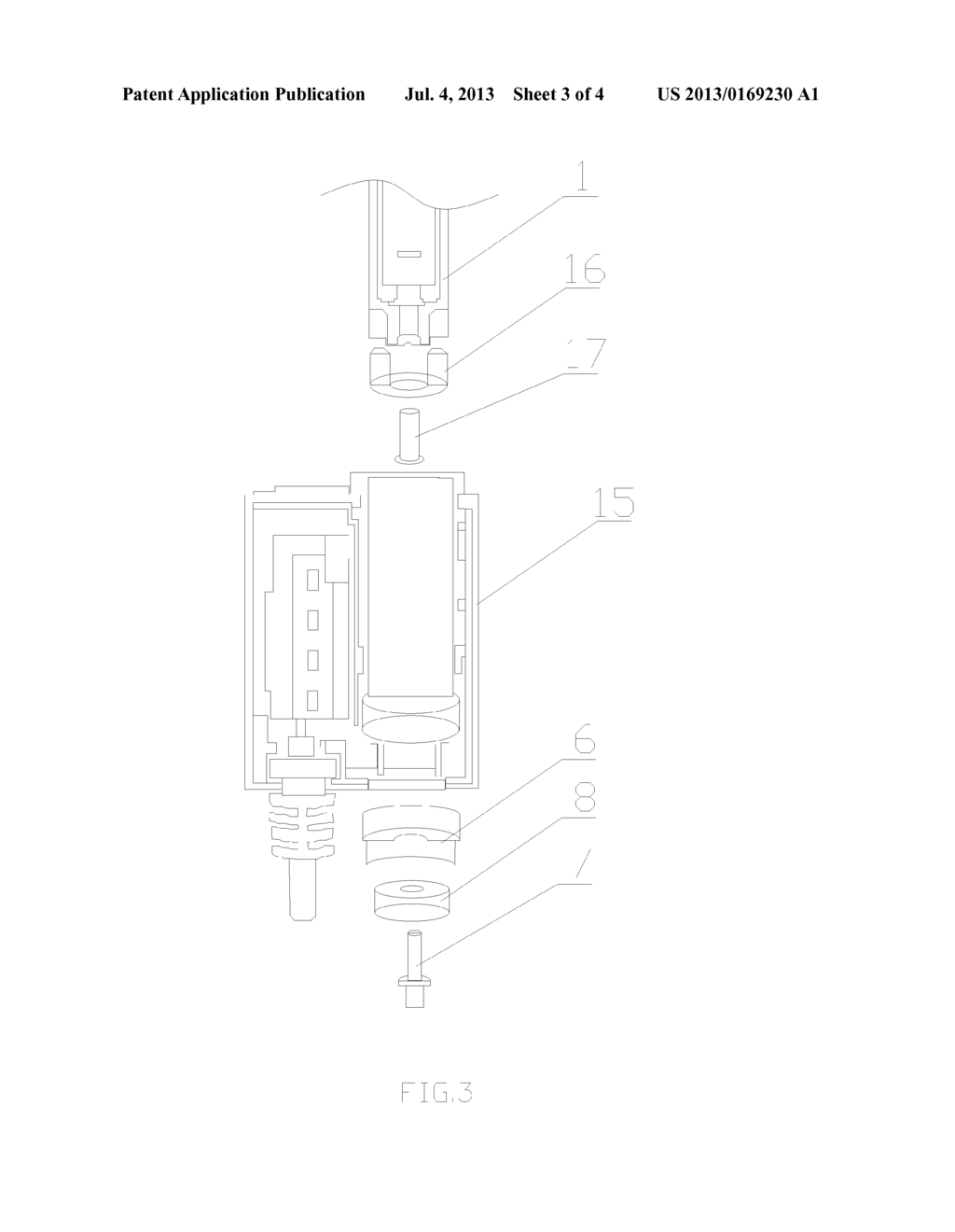 CONTACT TYPE CHARGING DEVICE USED FOR AN ELECTRONIC CIGARETTE - diagram, schematic, and image 04