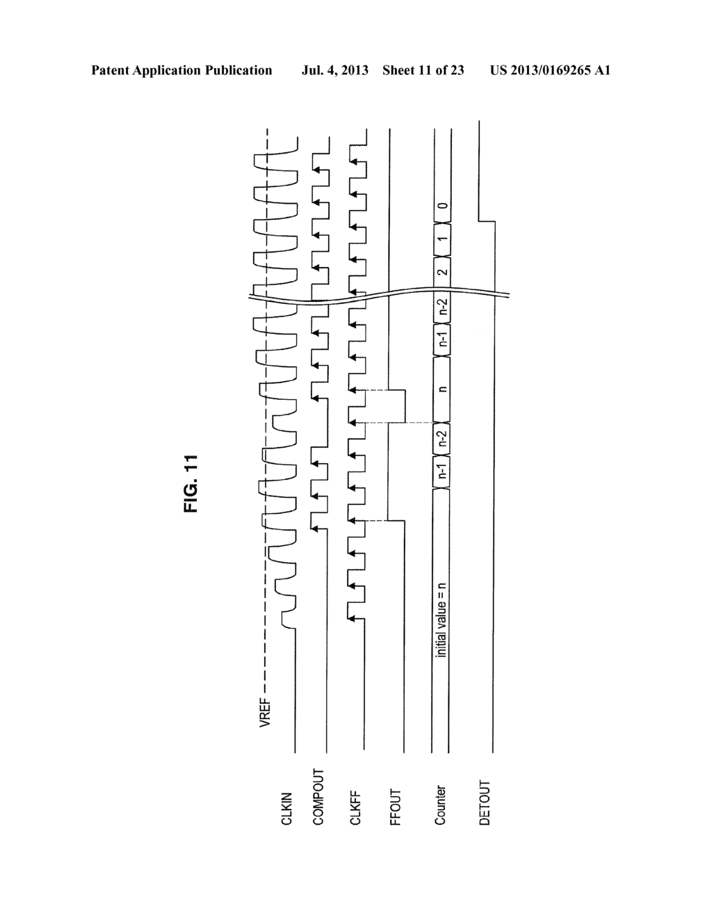 VOLTAGE AMPLITUDE DETECTION CIRCUIT, INFORMATION STORAGE DEVICE,     COMMUNICATION DEVICE, AND VOLTAGE AMPLITUDE DETECTION METHOD - diagram, schematic, and image 12