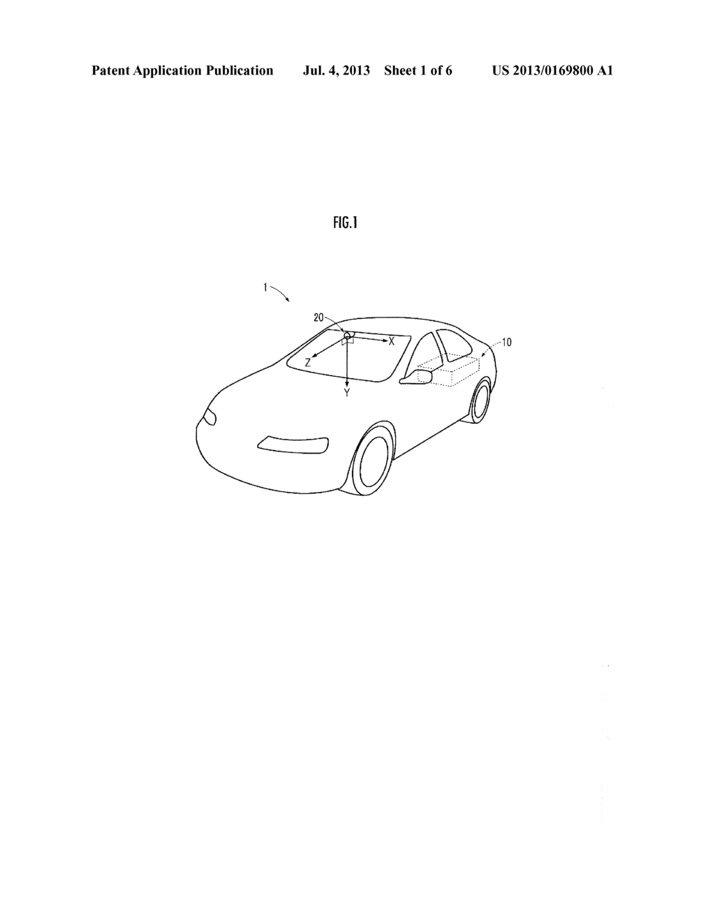 DISPLACEMENT MAGNITUDE DETECTION DEVICE FOR VEHICLE-MOUNTED CAMERA - diagram, schematic, and image 02