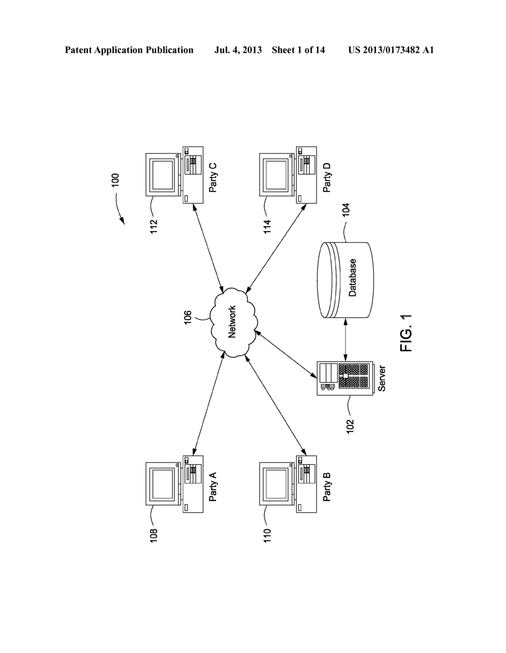 System and Method for Facilitating Transactions Between Two or More     Parties - diagram, schematic, and image 02