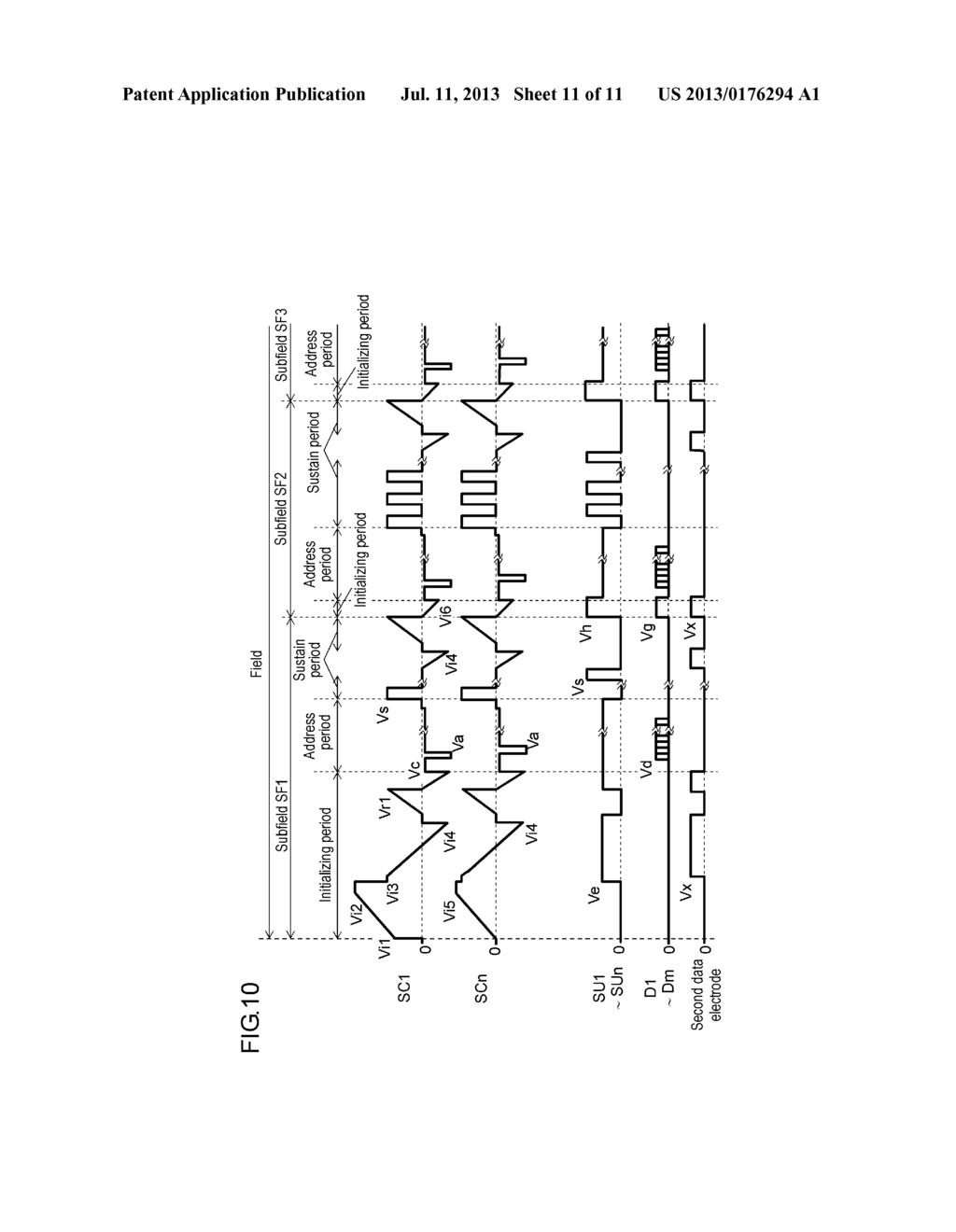 PLASMA DISPLAY PANEL DRIVE METHOD AND PLASMA DISPLAY DEVICE - diagram, schematic, and image 12