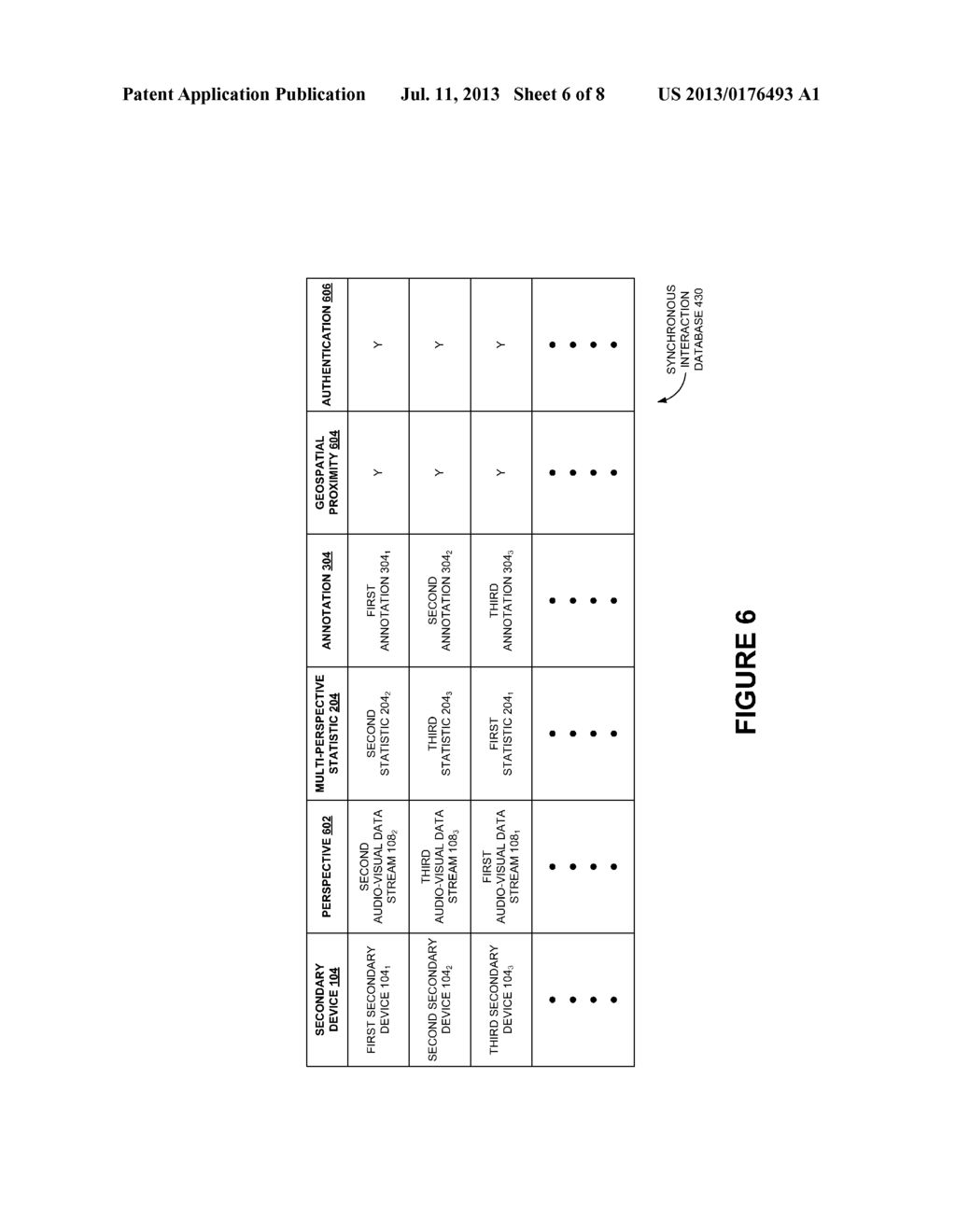 AUTHENTICATION AND SYNCHRONOUS INTERACTION BETWEEN A SECONDARY DEVICE AND     A MULTI-PERSPECTIVE AUDIOVISUAL DATA STREAM BROADCAST ON A PRIMARY DEVICE     GEOSPATIALLY PROXIMATE TO THE SECONDARY DEVICE - diagram, schematic, and image 07