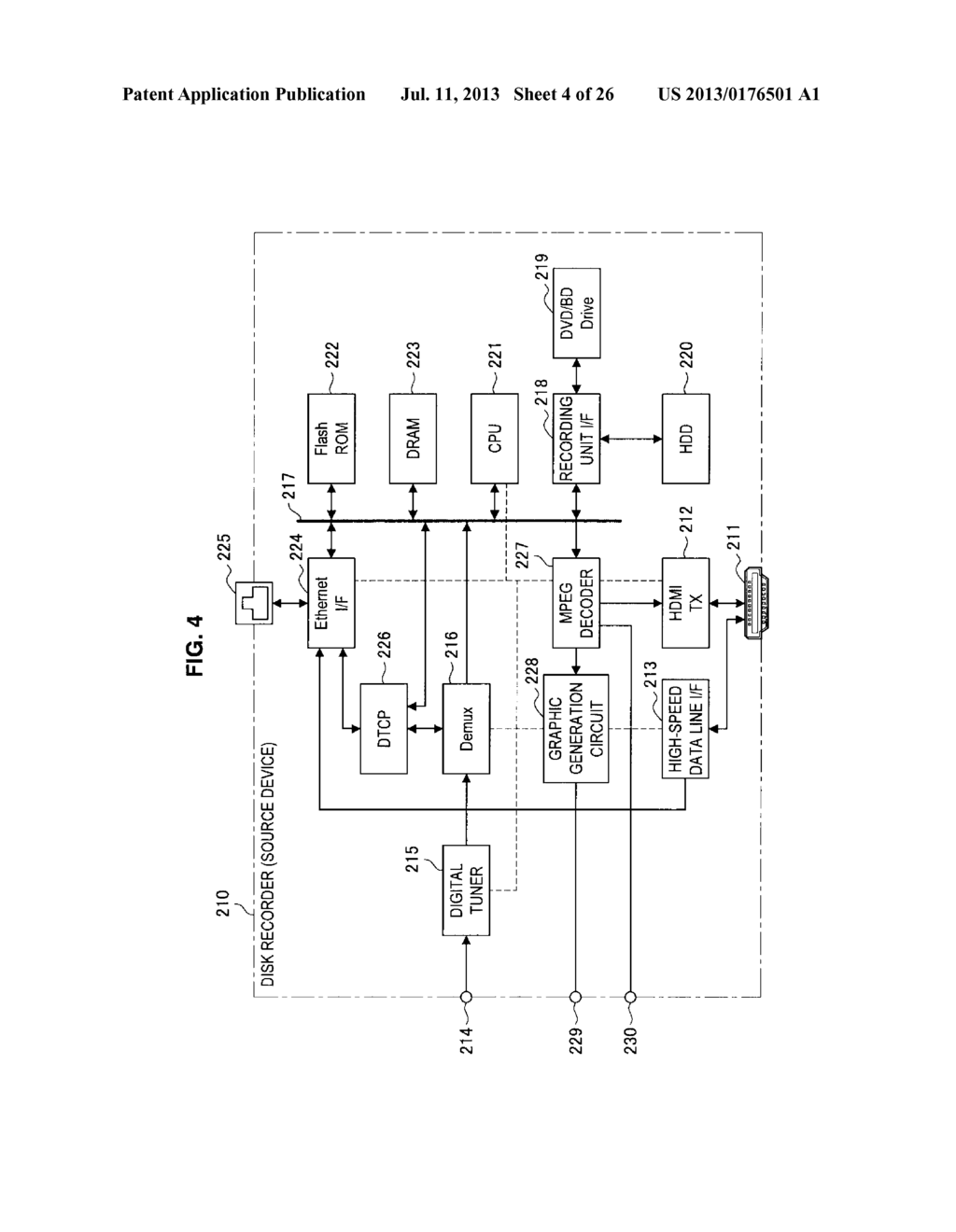 DISPLAY APPARATUS, VIDEO SIGNAL TRANSMISSION METHOD FOR DISPLAY APPARATUS,     TRANSMITTING APPARATUS, AND TRANSMISSION METHOD OF VIDEO SIGNAL - diagram, schematic, and image 05