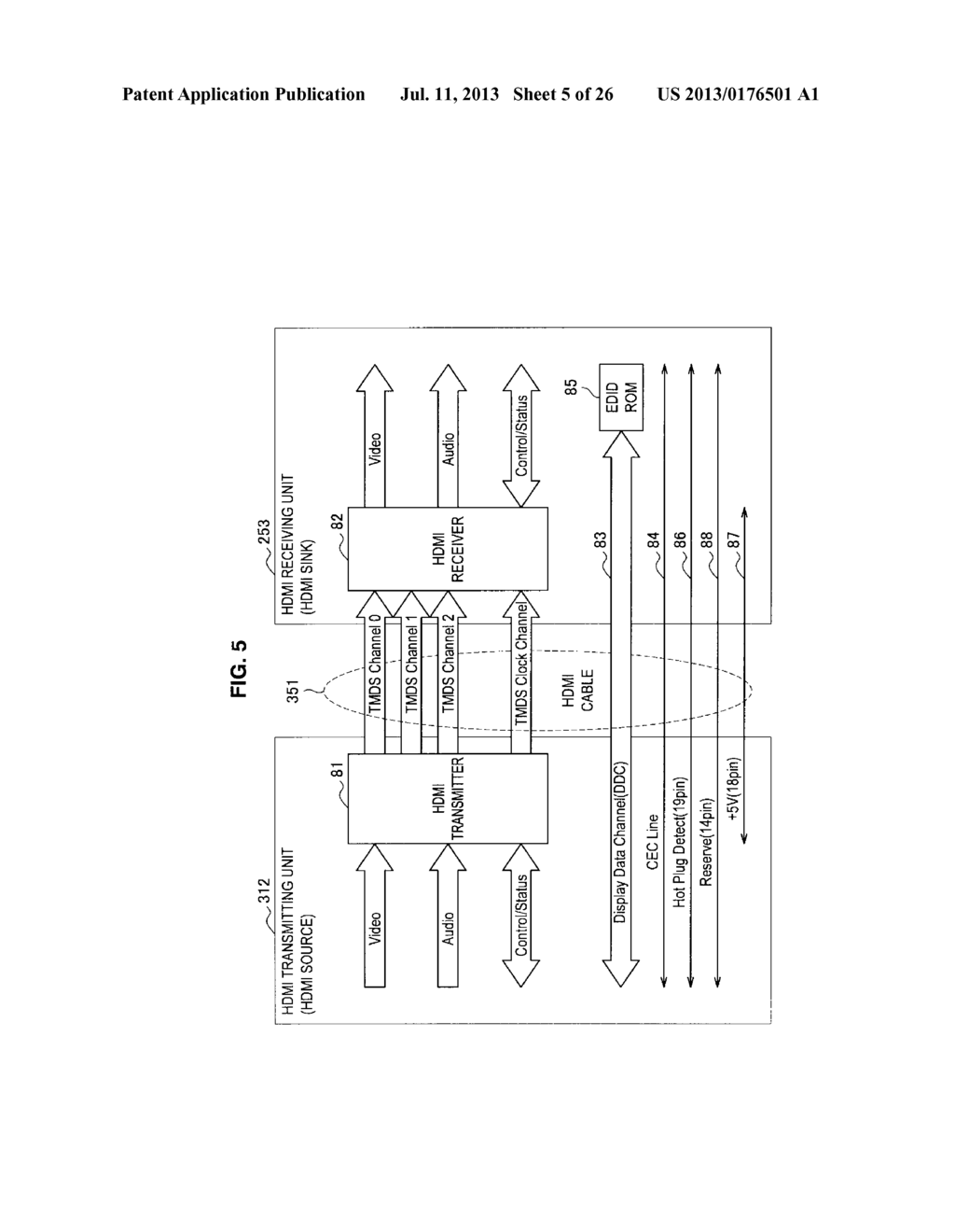 DISPLAY APPARATUS, VIDEO SIGNAL TRANSMISSION METHOD FOR DISPLAY APPARATUS,     TRANSMITTING APPARATUS, AND TRANSMISSION METHOD OF VIDEO SIGNAL - diagram, schematic, and image 06