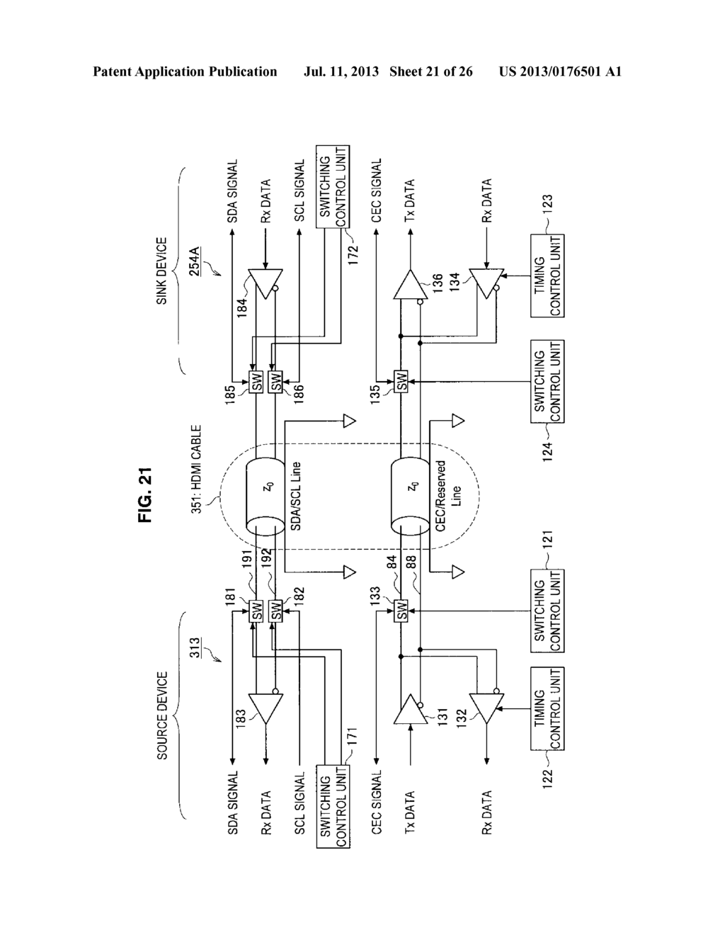 DISPLAY APPARATUS, VIDEO SIGNAL TRANSMISSION METHOD FOR DISPLAY APPARATUS,     TRANSMITTING APPARATUS, AND TRANSMISSION METHOD OF VIDEO SIGNAL - diagram, schematic, and image 22