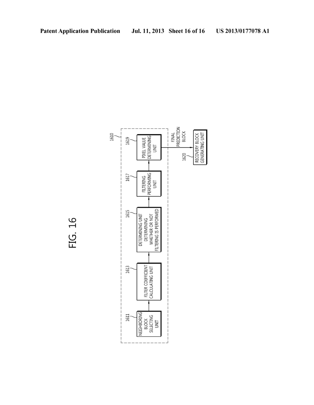 APPARATUS AND METHOD FOR ENCODING/DECODING VIDEO USING ADAPTIVE PREDICTION     BLOCK FILTERING - diagram, schematic, and image 17