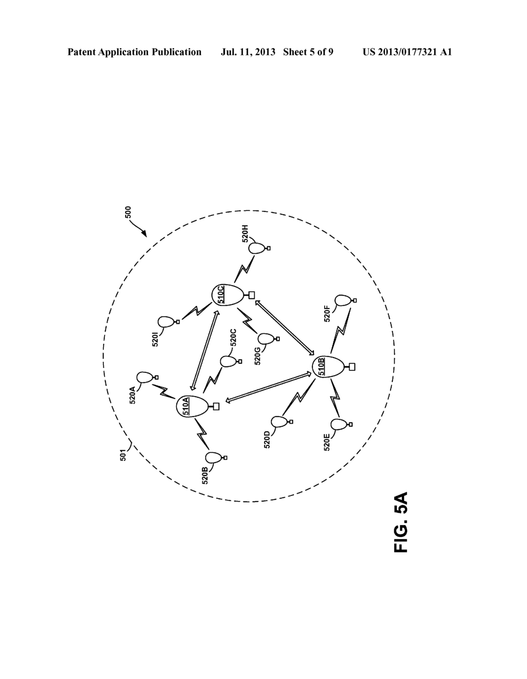 Balloon Network with Free-Space Optical Communication between Super-Node     Balloons and RF Communication between Super-Node and Sub-Node Balloons - diagram, schematic, and image 06