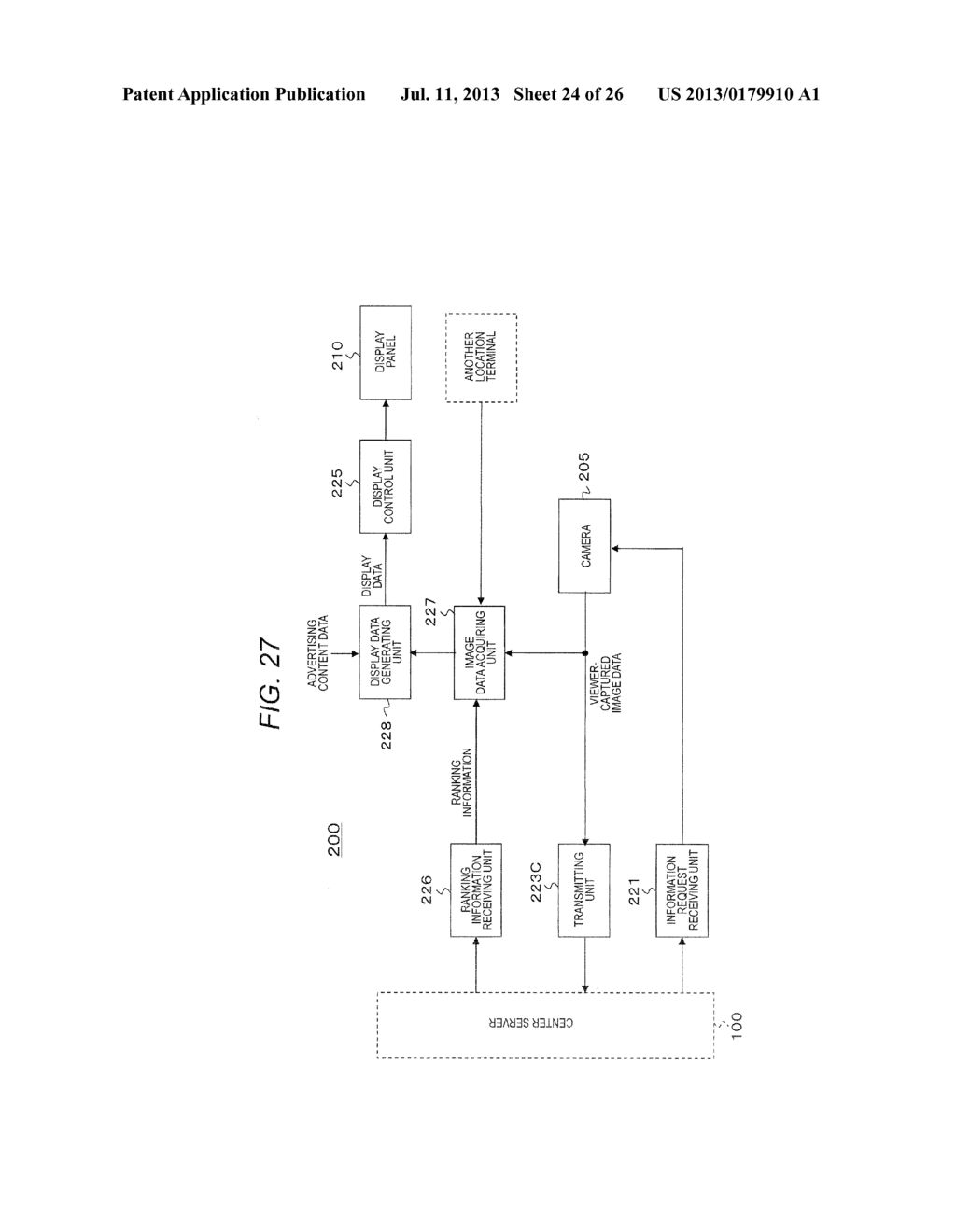 TERMINAL DEVICE, CONTENT DISPLAY METHOD FOR TERMINAL DEVICE, SERVER     DEVICE, DISPLAY DATA TRANSMISSION METHOD FOR SERVER DEVICE, AND RANKING     INFORMATION TRANSMISSION METHOD FOR SERVER DEVICE - diagram, schematic, and image 25
