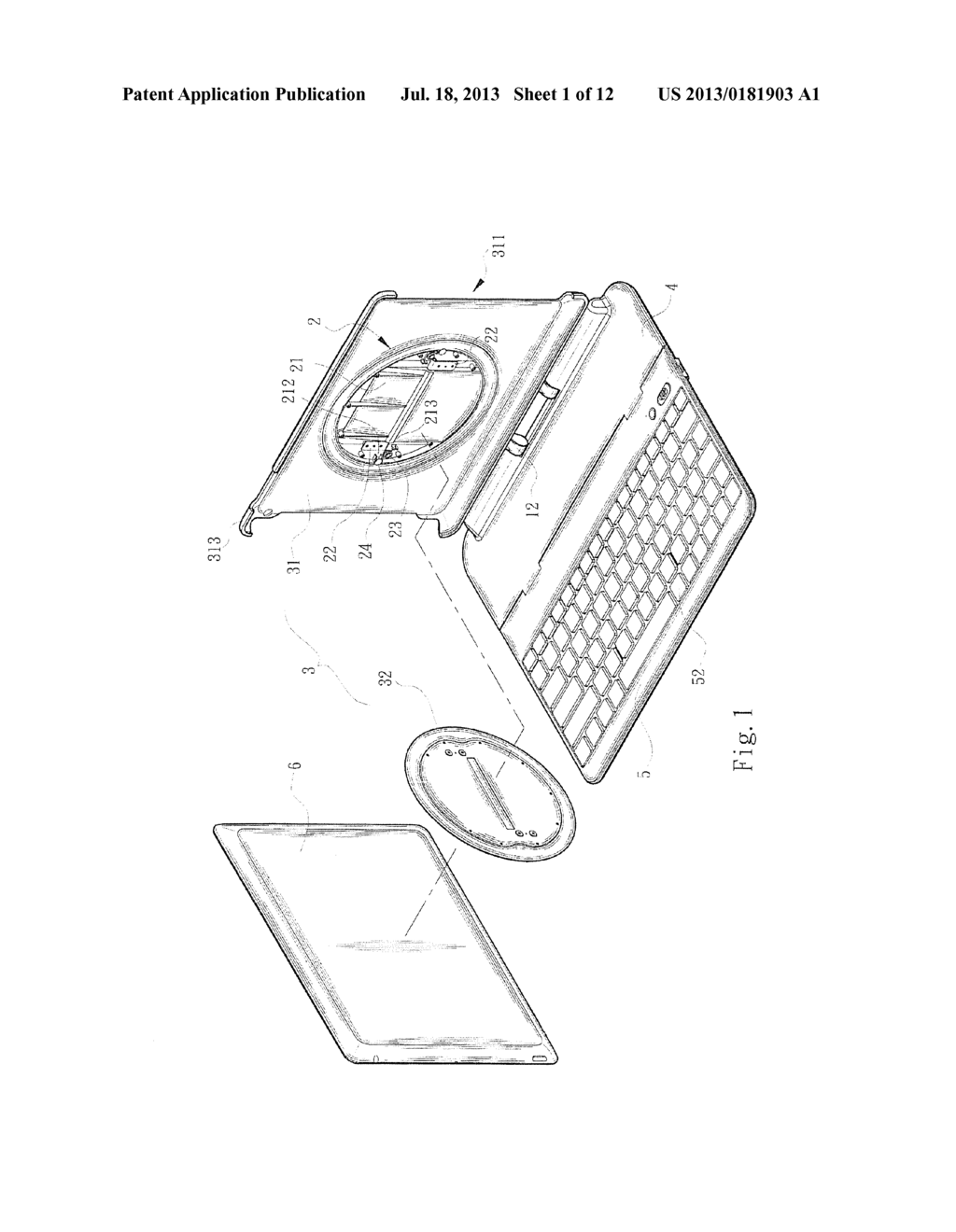 PROTECTION COVER SUPPORT SEAT STRUCTURE FOR TABLET DISPLAY APPARATUS - diagram, schematic, and image 02