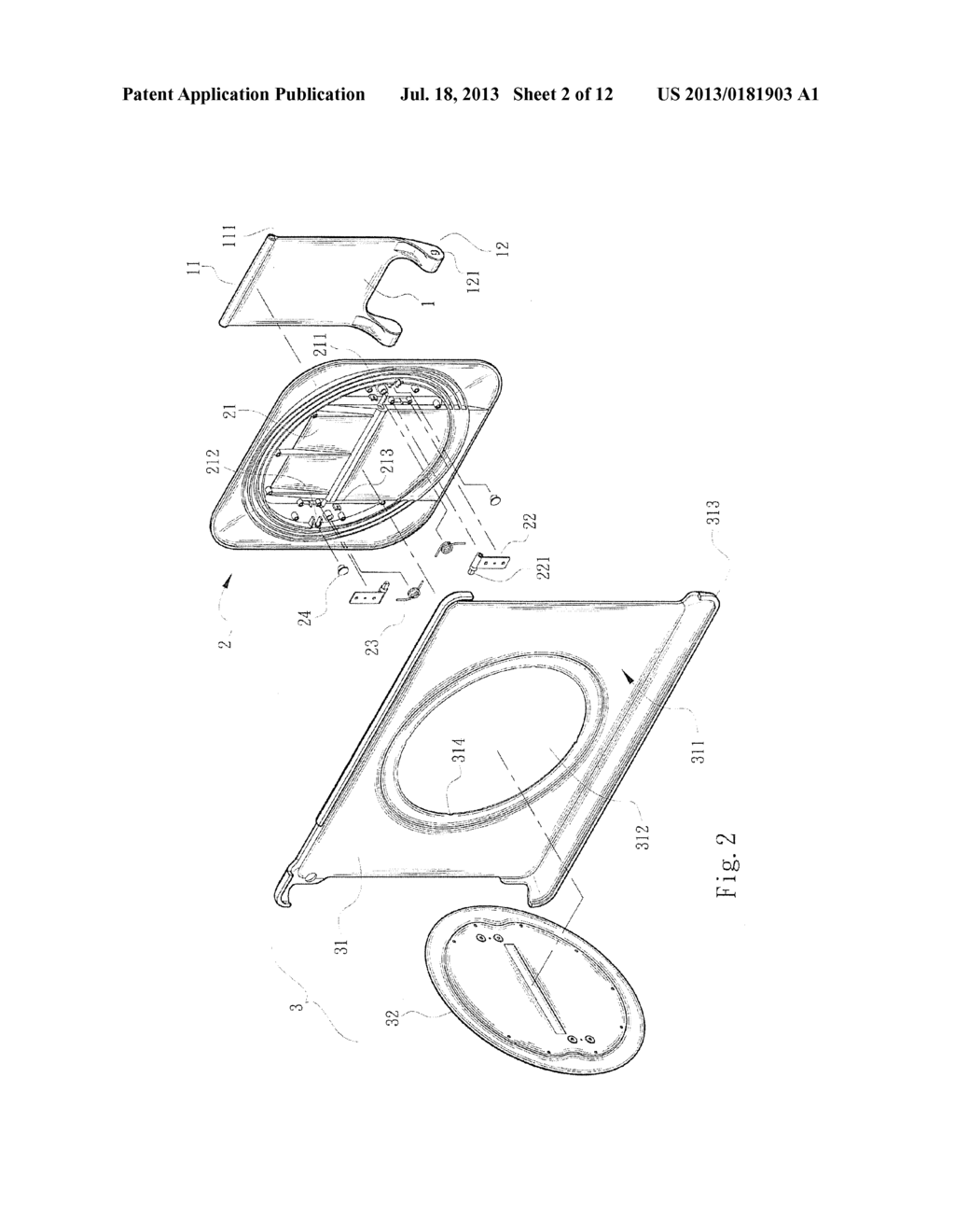 PROTECTION COVER SUPPORT SEAT STRUCTURE FOR TABLET DISPLAY APPARATUS - diagram, schematic, and image 03