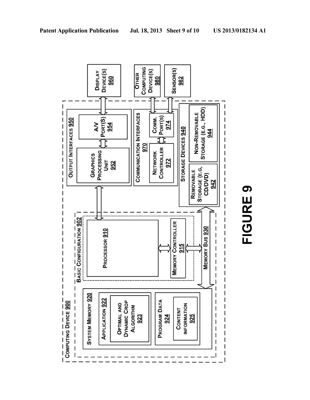 Methods and Systems for Processing a Video for Stabilization Using Dynamic     Crop - diagram, schematic, and image 10