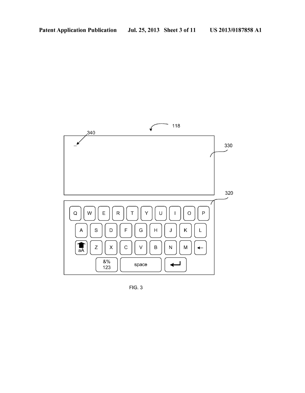 VIRTUAL KEYBOARD PROVIDING AN INDICATION OF RECEIVED INPUT - diagram, schematic, and image 04