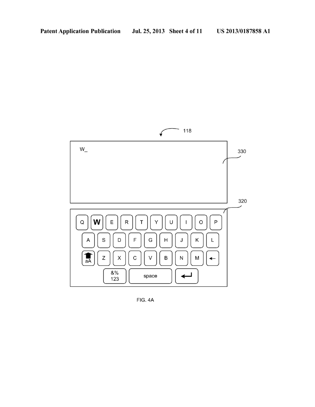 VIRTUAL KEYBOARD PROVIDING AN INDICATION OF RECEIVED INPUT - diagram, schematic, and image 05
