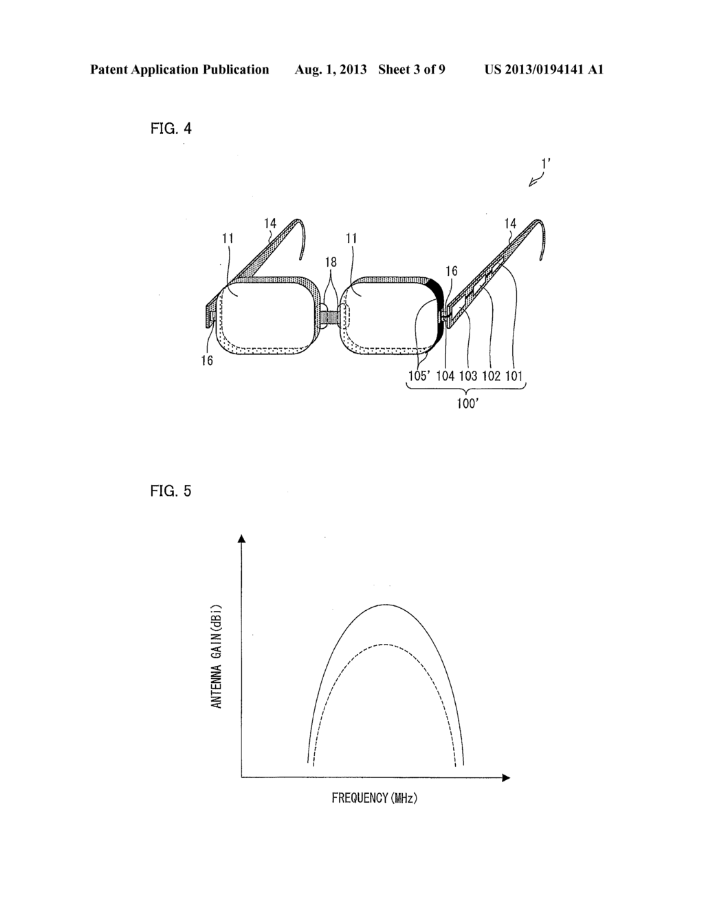 EYEGLASSES-TYPE WIRELESS COMMUNICATIONS APPARATUS - diagram, schematic, and image 04