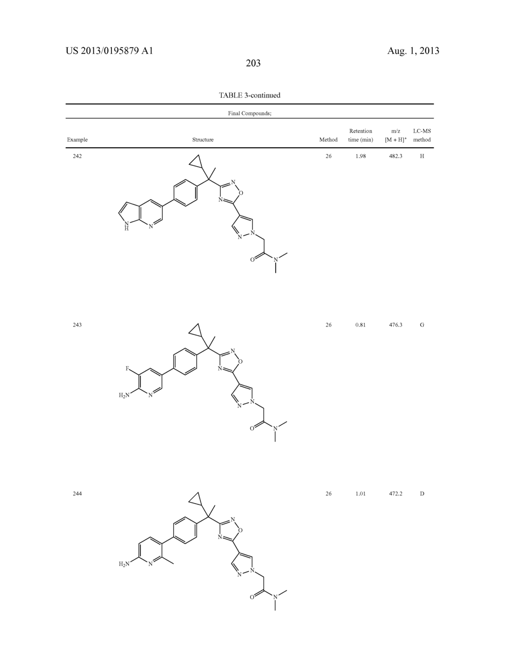 OXADIAZOLE INHIBITORS OF LEUKOTRIENE PRODUCTION FOR COMBINATION THERAPY - diagram, schematic, and image 205