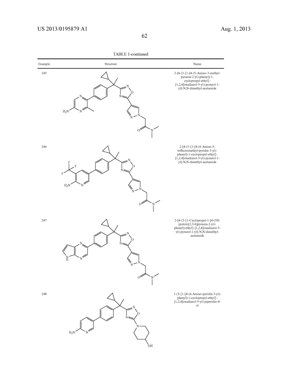 OXADIAZOLE INHIBITORS OF LEUKOTRIENE PRODUCTION FOR COMBINATION THERAPY - diagram, schematic, and image 64