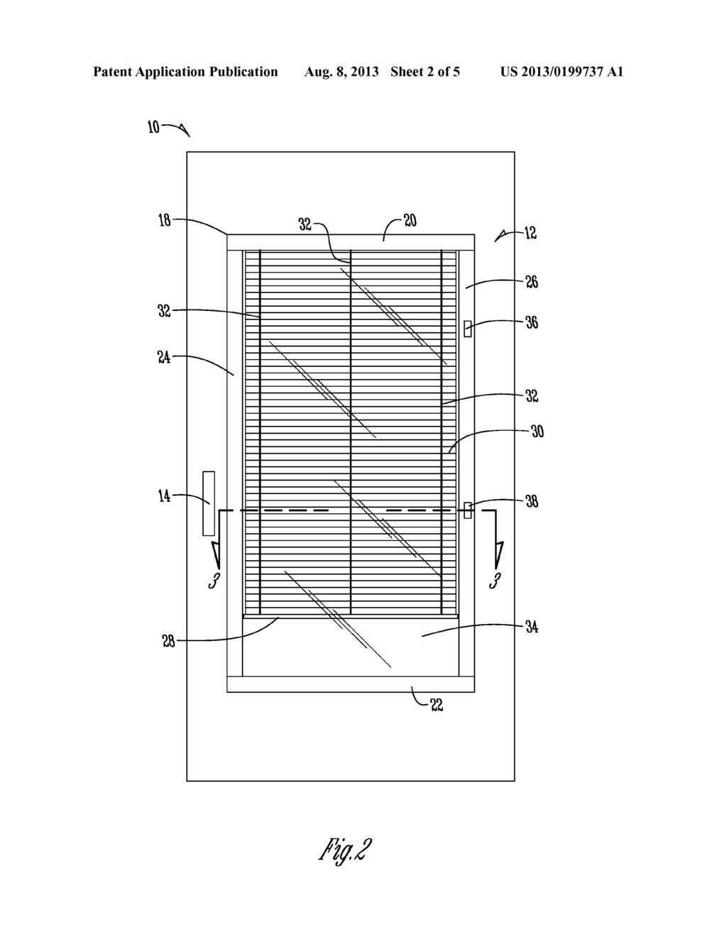 BLINDS-BETWEEN-GLASS WINDOW WITH THERMAL BREAK - diagram, schematic