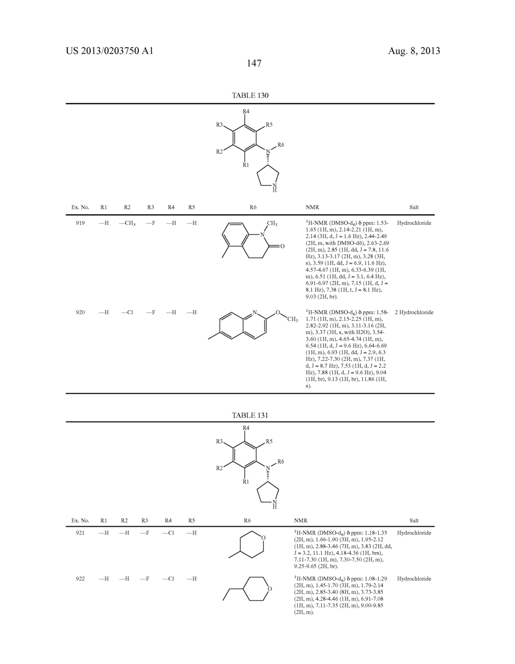 N,N-SUBSTITUTED 3-AMINOPYRROLIDINE COMPOUNDS USEFUL AS MONOAMINES REUPTAKE     INHIBITORS - diagram, schematic, and image 148