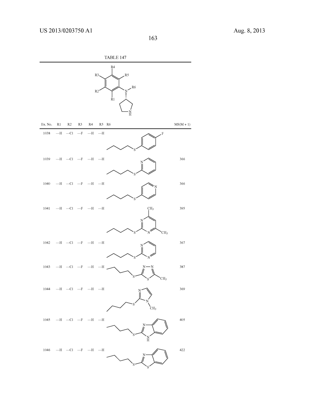 N,N-SUBSTITUTED 3-AMINOPYRROLIDINE COMPOUNDS USEFUL AS MONOAMINES REUPTAKE     INHIBITORS - diagram, schematic, and image 164