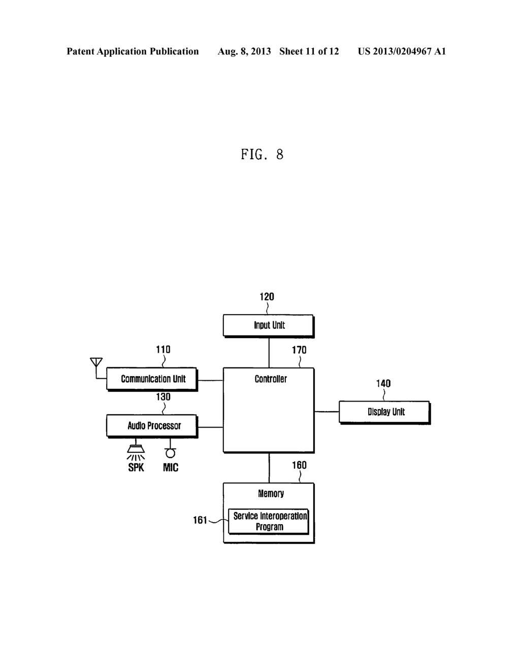 METHOD AND APPARATUS FOR INTEROPERABLY PERFORMING SERVICES AND SYSTEM     SUPPORTING THE SAME - diagram, schematic, and image 12
