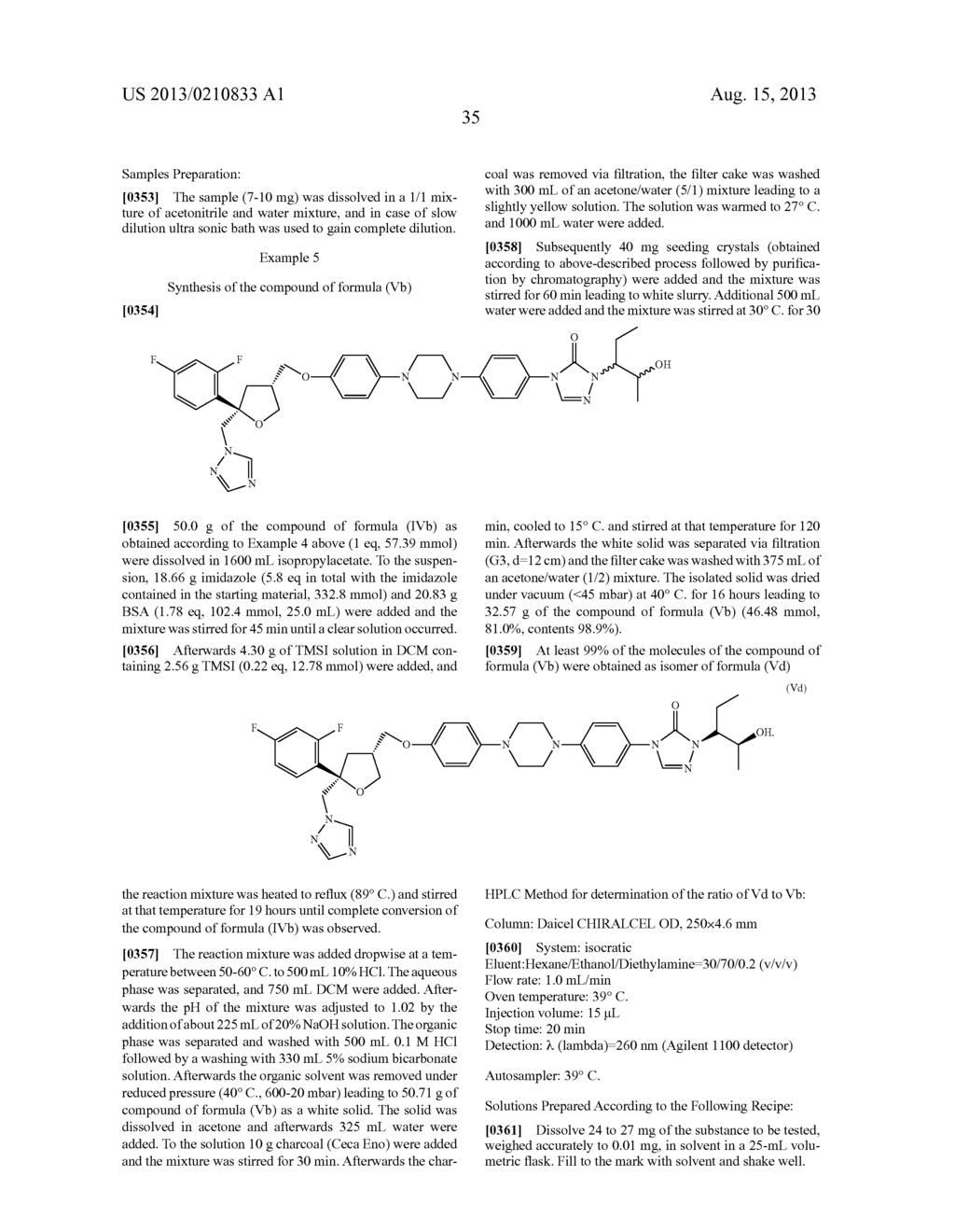 PROCESS FOR THE PREPARATION OF CHIRAL TRIAZOLONES - diagram, schematic, and image 41