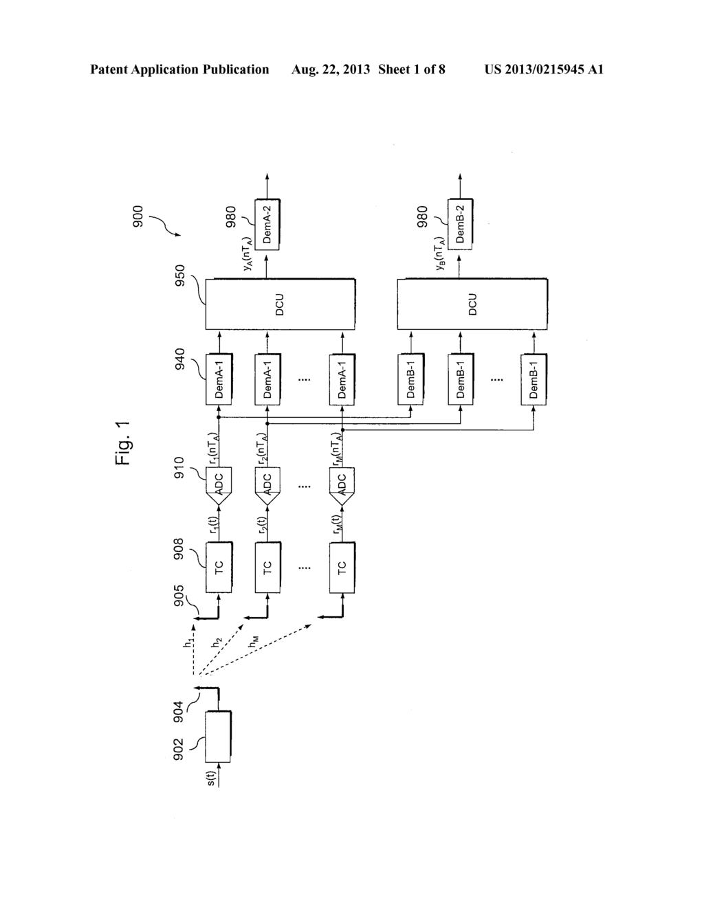 SIGNAL PROCESSING UNIT EMPLOYING A BLIND CHANNEL ESTIMATION ALGORITHM AND     METHOD OF OPERATING A RECEIVER APPARATUS - diagram, schematic, and image 02