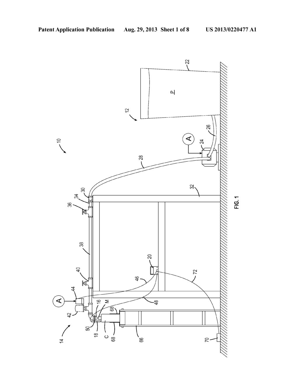 CONTAINER FILLING APPARATUS AND METHOD - diagram, schematic, and image 02