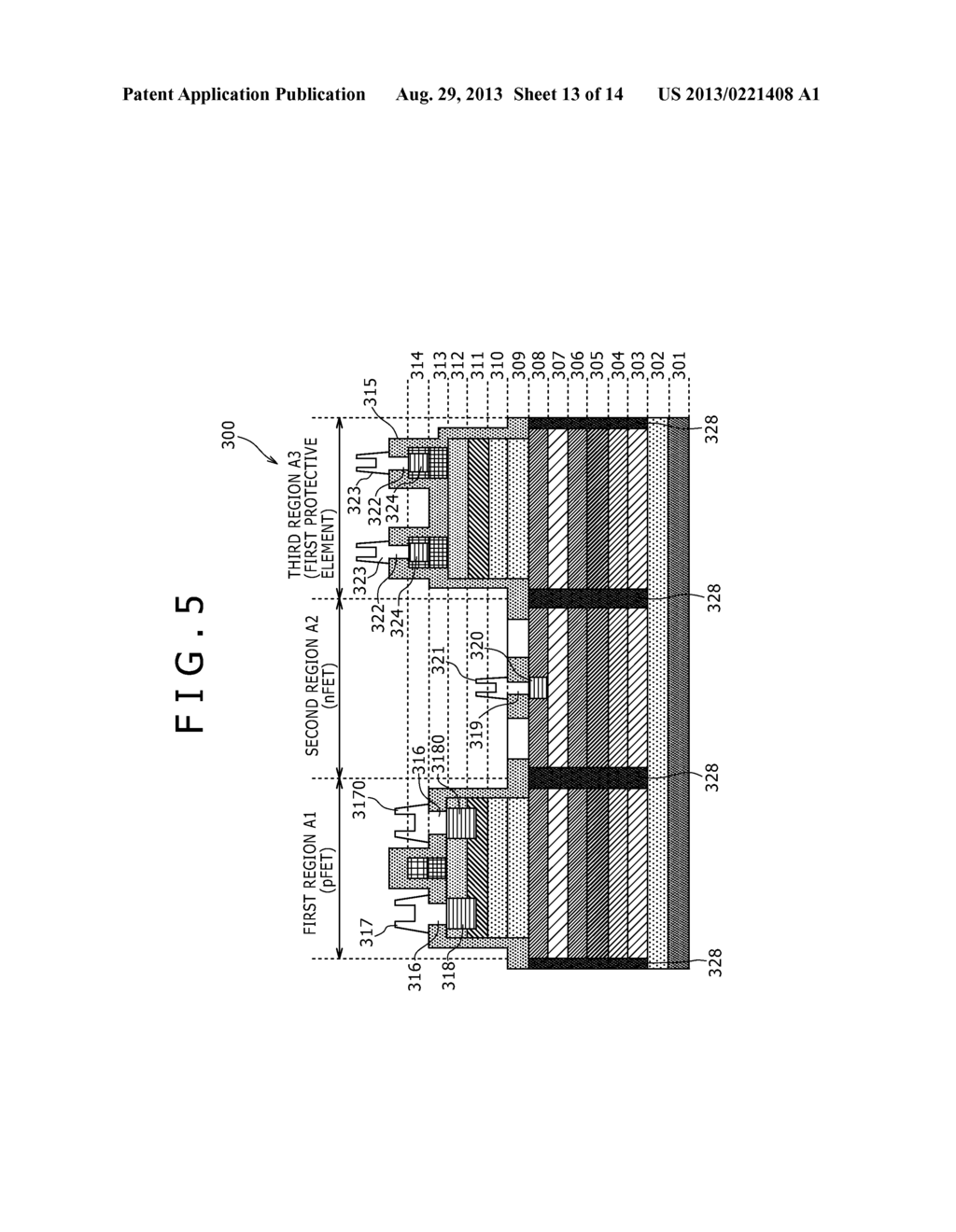 SEMICONDUCTOR DEVICE, MANUFACTURING METHOD THEREOF, PROTECTIVE ELEMENT,     AND MANUFACTURING METHOD THEREOF - diagram, schematic, and image 14