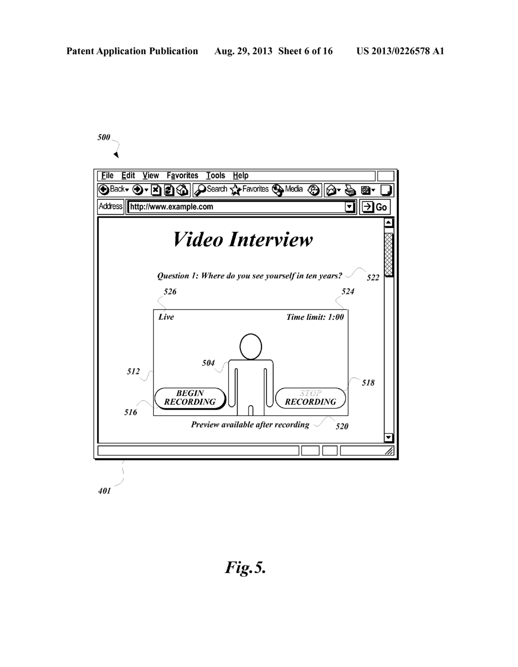 ASYNCHRONOUS VIDEO INTERVIEW SYSTEM - diagram, schematic, and image 07