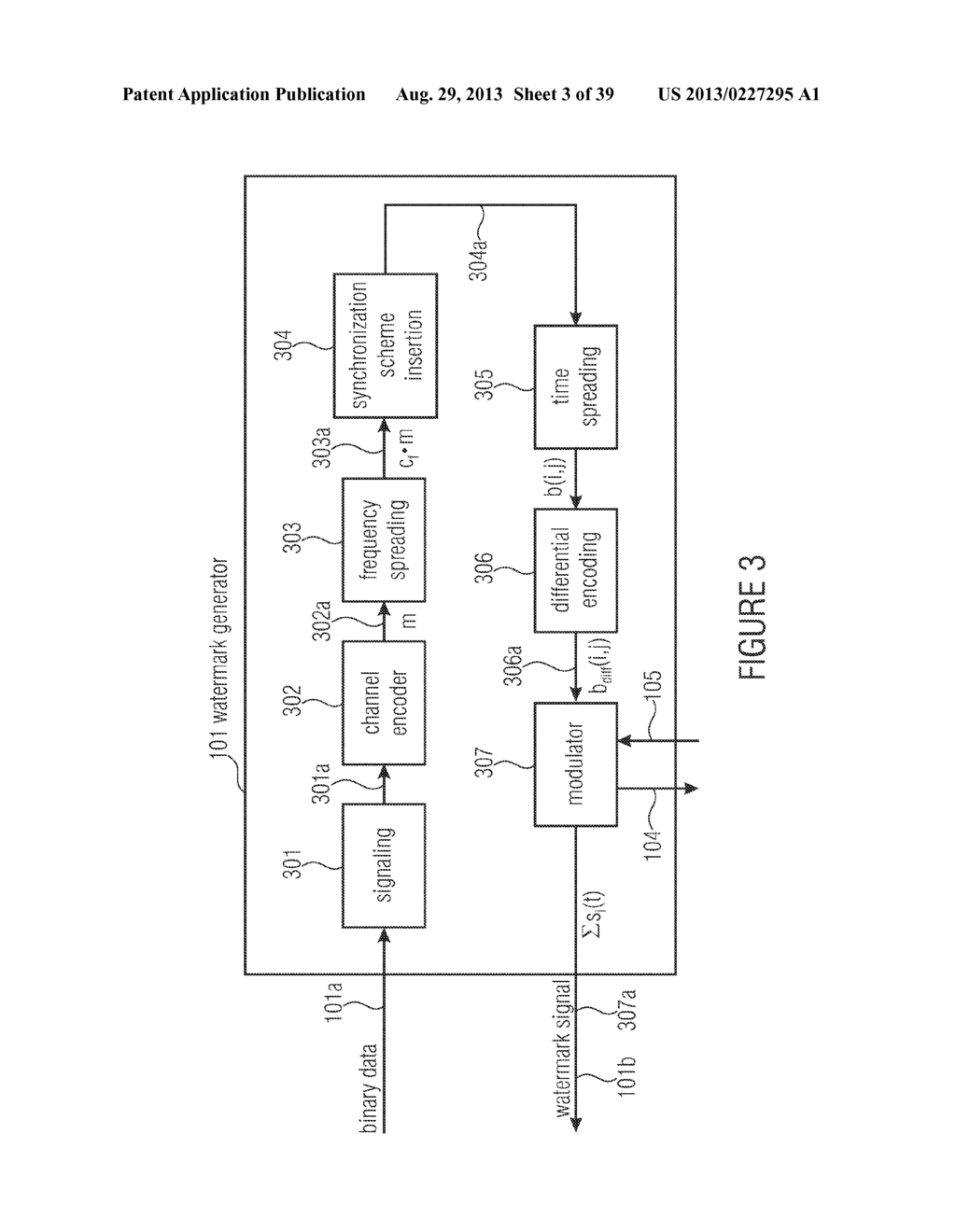 WATERMARK GENERATOR, WATERMARK DECODER, METHOD FOR PROVIDING A WATERMARK     SIGNAL IN DEPENDENCE ON BINARY MESSAGE DATA, METHOD FOR PROVIDING BINARY     MESSAGE DATA IN DEPENDENCE ON A WATERMARKED SIGNAL AND COMPUTER PROGRAM     USING A DIFFERENTIAL ENCODING - diagram, schematic, and image 04