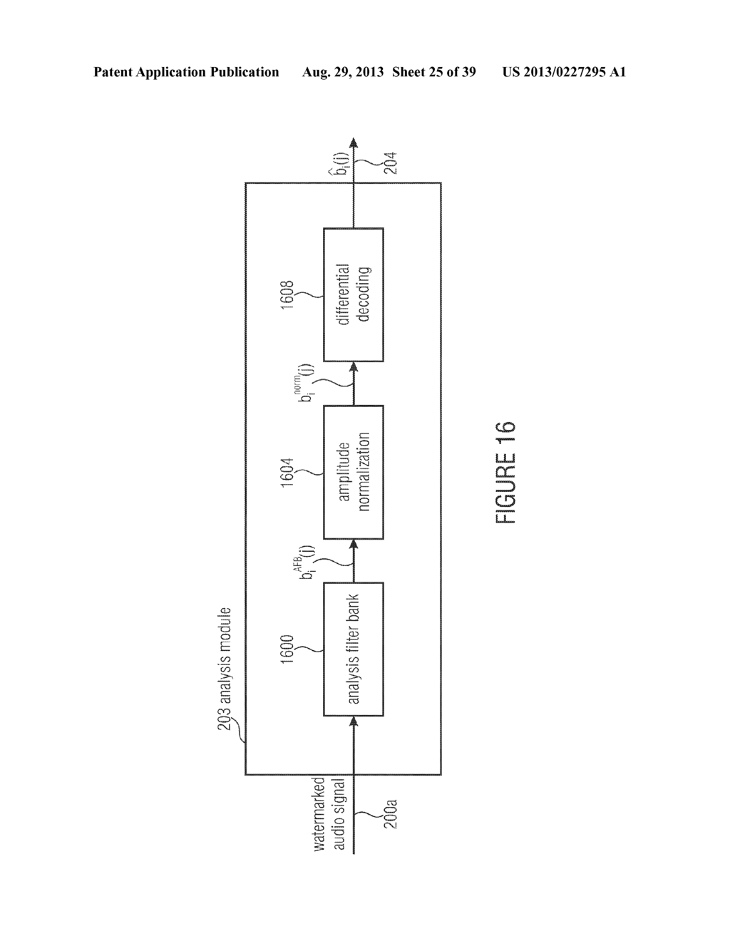 WATERMARK GENERATOR, WATERMARK DECODER, METHOD FOR PROVIDING A WATERMARK     SIGNAL IN DEPENDENCE ON BINARY MESSAGE DATA, METHOD FOR PROVIDING BINARY     MESSAGE DATA IN DEPENDENCE ON A WATERMARKED SIGNAL AND COMPUTER PROGRAM     USING A DIFFERENTIAL ENCODING - diagram, schematic, and image 26