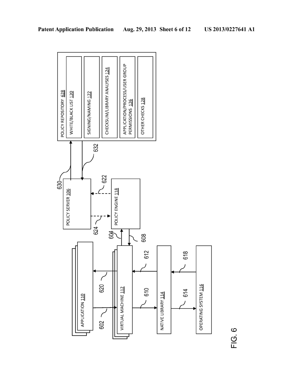 SYSTEMS AND METHODS TO ENFORCE SECURITY POLICIES ON THE LOADING, LINKING,     AND EXECUTION OF NATIVE CODE BY MOBILE APPLICATIONS RUNNING INSIDE OF     VIRTUAL MACHINES - diagram, schematic, and image 07
