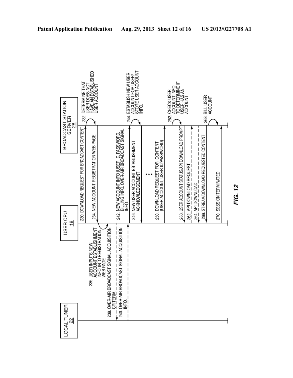 SYSTEM AND METHOD FOR DELIVERING GEOGRAPHICALLY RESTRICTED CONTENT, SUCH     AS OVER-AIR BROADCAST PROGRAMMING, TO A RECIPIENT OVER A NETWORK, NAMELY     THE INTERNET - diagram, schematic, and image 13