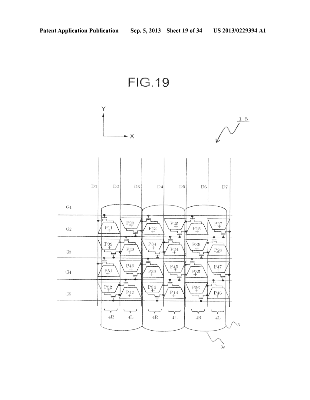 DISPLAY DEVICE, DRIVING METHOD THEREOF, TERMINAL DEVICE, AND DISPLAY PANEL - diagram, schematic, and image 20