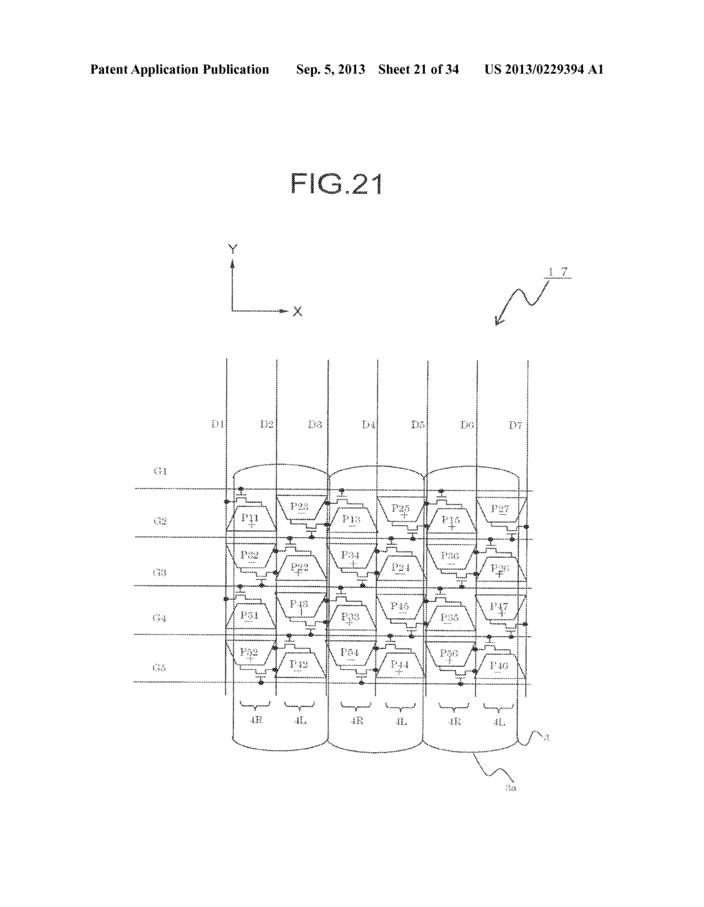 DISPLAY DEVICE, DRIVING METHOD THEREOF, TERMINAL DEVICE, AND DISPLAY PANEL - diagram, schematic, and image 22