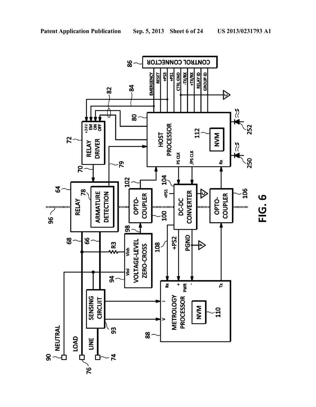 RELAY SYSTEM WITH BRANCH CIRCUIT METERING - diagram, schematic, and ...