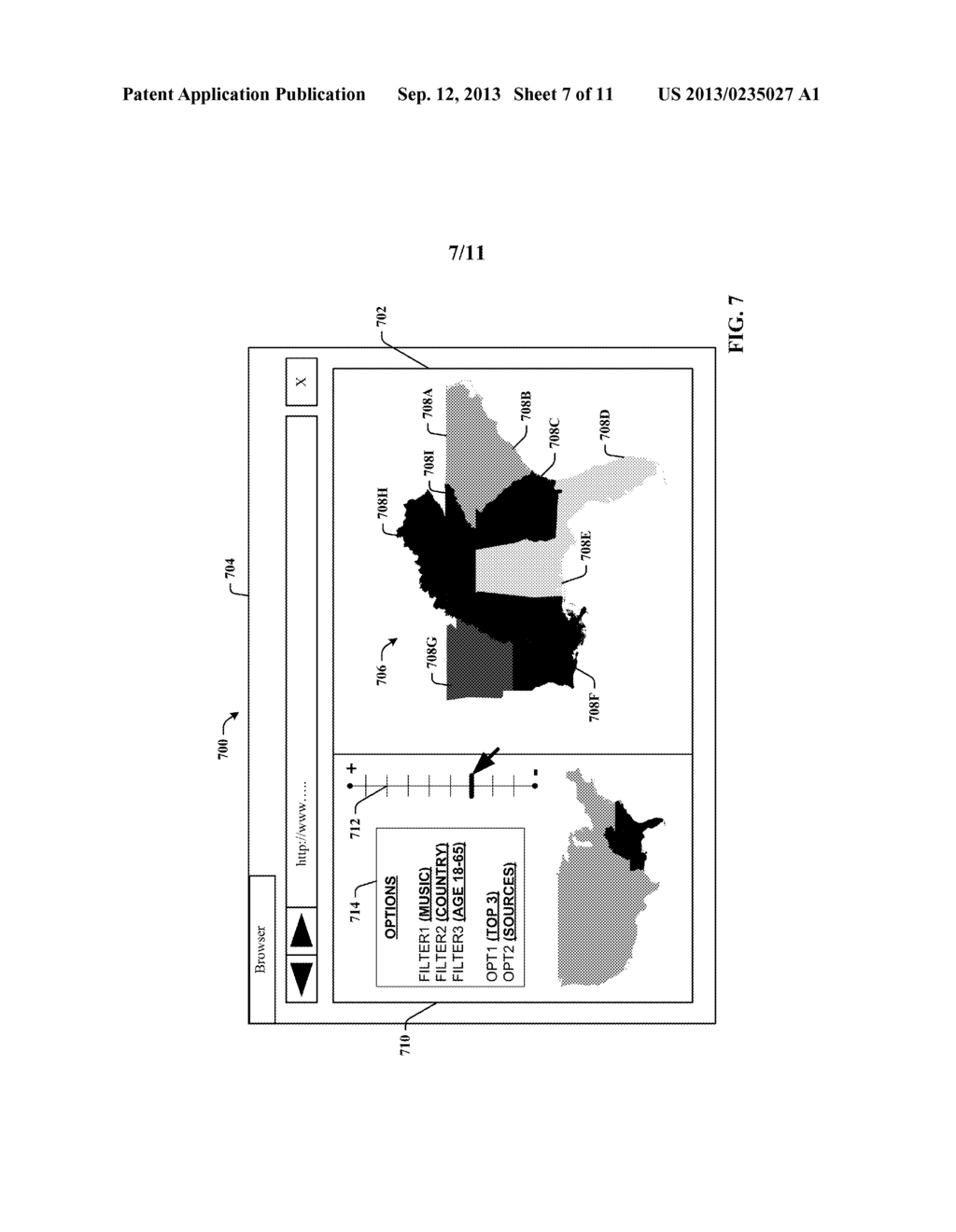 DYNAMIC DISPLAY OF CONTENT CONSUMPTION BY GEOGRAPHIC LOCATION - diagram, schematic, and image 08