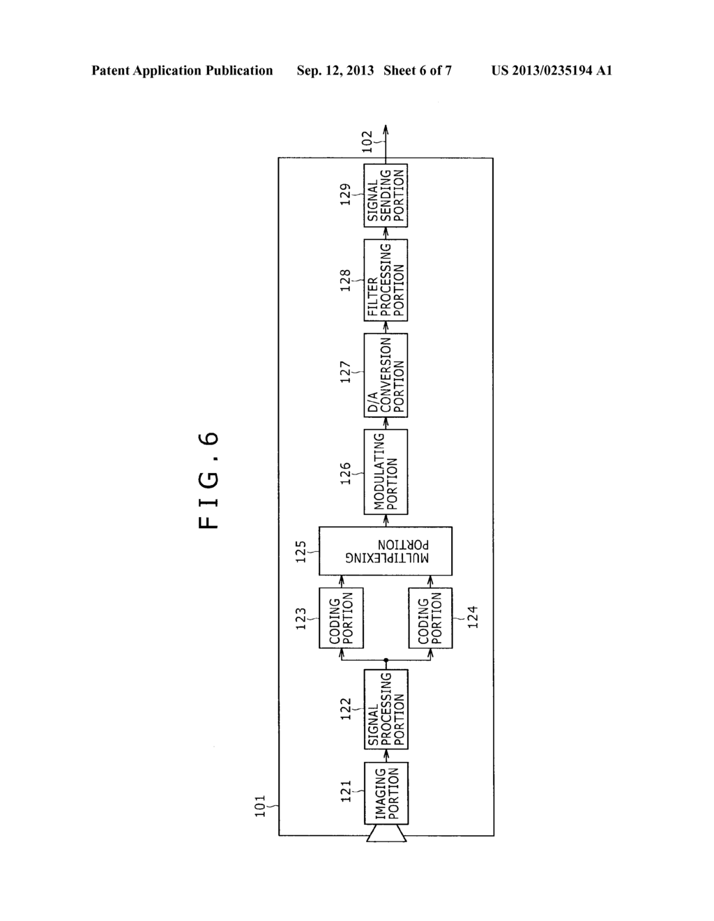 IMAGING APPARATUS AND IMAGE TRANSMITTING METHOD - diagram, schematic, and image 07