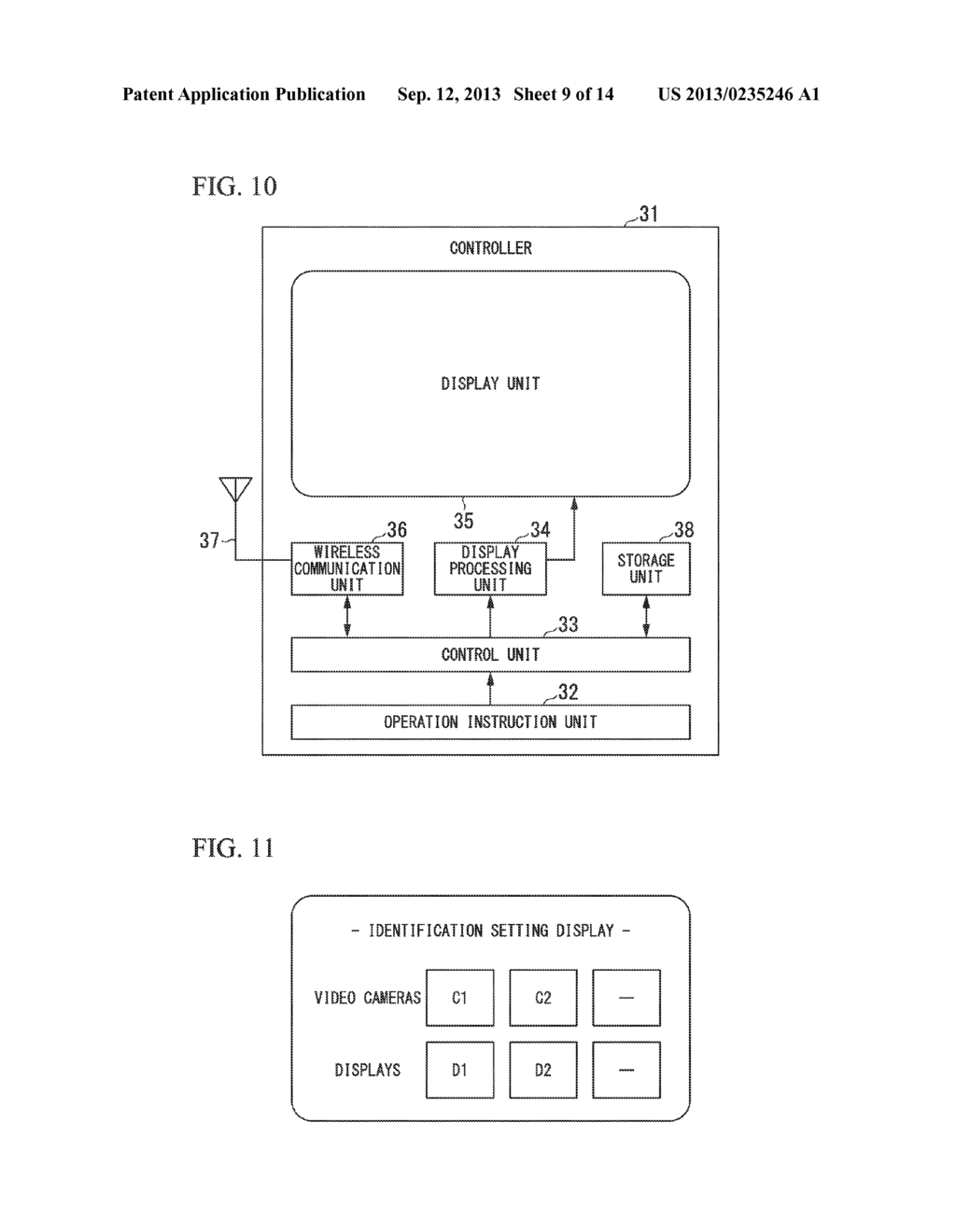 DISPLAY DEVICE, TRANSMITTING TERMINAL, RECEIVING TERMINAL AND WIRELESS     COMMUNICATION SYSTEM - diagram, schematic, and image 10