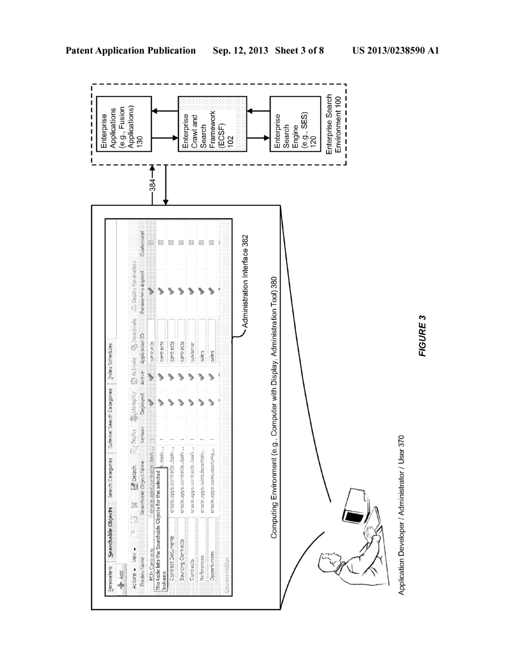 SYSTEM AND METHOD FOR SUPPORTING HETEROGENEOUS SOLUTIONS AND MANAGEMENT     WITH AN ENTERPRISE CRAWL AND SEARCH FRAMEWORK - diagram, schematic, and image 04