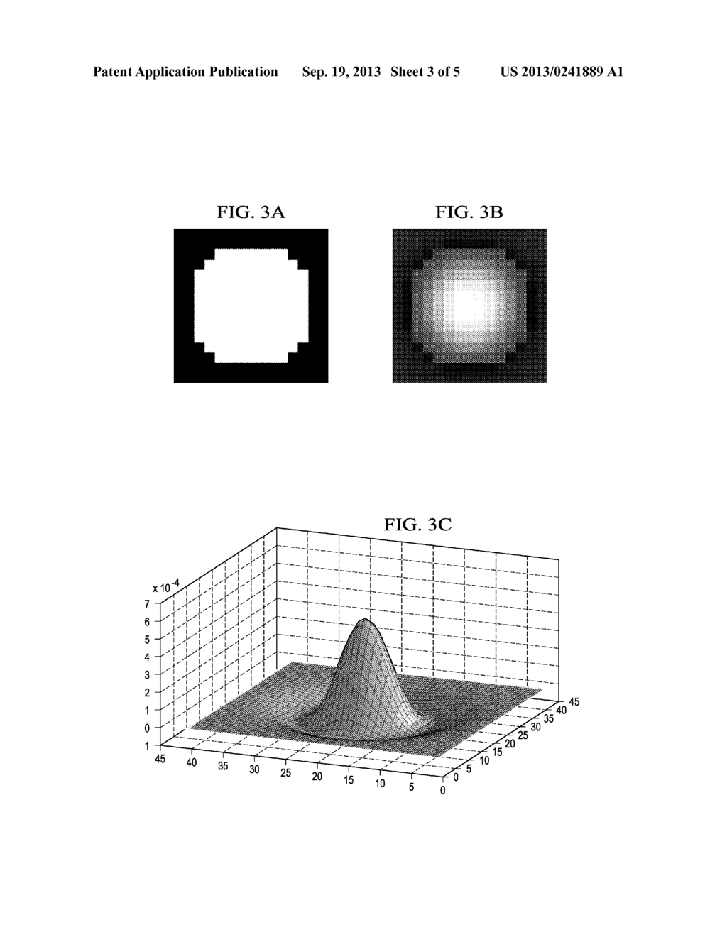 Detecting and Tracking Touch on an Illuminated Surface Using a     Mean-Subtracted Image - diagram, schematic, and image 04